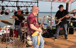 Eric, Tom, and Denis (L to R) jam at the 2014 Waterstock Festival on the Potomac River.